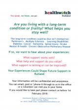 Health Watch Rutland Want Your Views